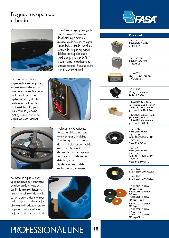 Catalogo características fregadora A13 75-85 essential