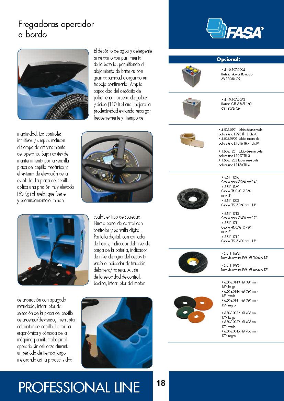 Catalogo características fregadora A13 75-85 up