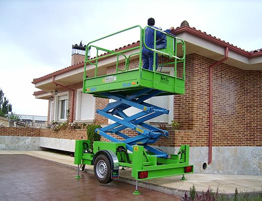 Plataforma Elevadora de Tijera Remolcada 9,5 m.