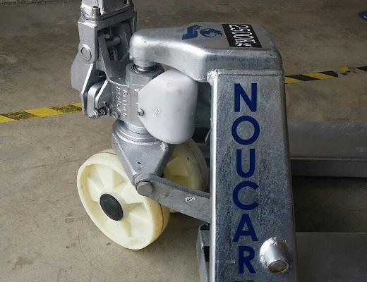 Transpaleta manual 2500 kg galvanizada